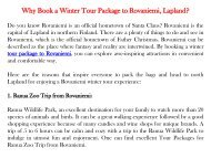Why Book a Winter Tour Package to Rovaniemi, Lapland