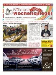 Dübener Wochenspiegel - Ausgabe 21 - 23-10_2013