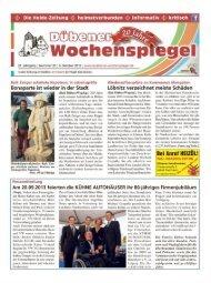 Dübener Wochenspiegel - Ausgabe 20 - 09-10_2013