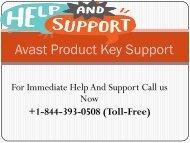Avast Product Key +1-844-393-0508