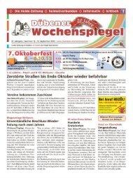 Dübener Wochenspiegel - Ausgabe 19 - 25-09_2013