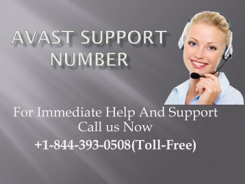 Avast Support +1-844-393-0508