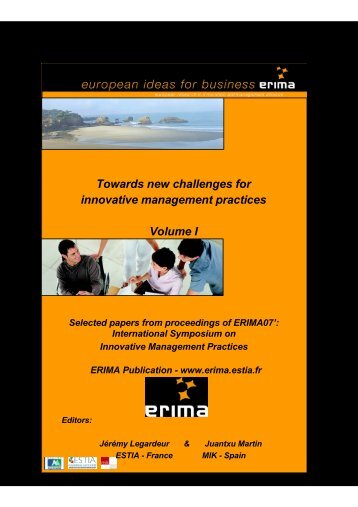 Towards new challenges for innovative management ... - Erima - Estia