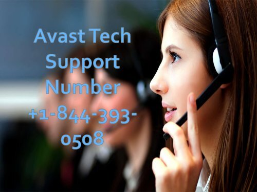 Avast Tech Support +1-844-393-0508