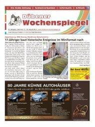 Dübener Wochenspiegel - Ausgabe 17 - 28-08_2013