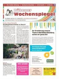 Dübener Wochenspiegel - Ausgabe 16 - 14-08_2013