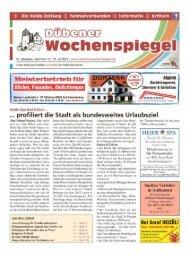 Dübener Wochenspiegel - Ausgabe 15 - 31-07_2013