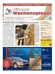 Dübener Wochenspiegel - Ausgabe 14 - 17-07_2013