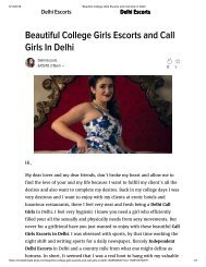Beautiful College Girls Escorts and Call Girls In Delhi