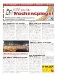 Dübener Wochenspiegel - Ausgabe 13 - 03-07_2013