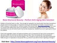 Rose Diamond Beauty Beautifying Skin Cream For All Skin Types!