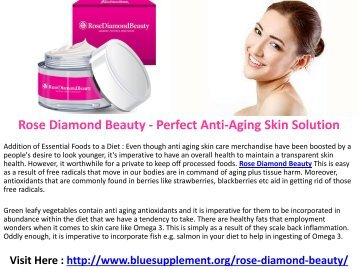 Rose Diamond Beauty Beautifying Skin Cream For All Skin Types!