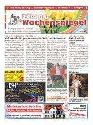 Dübener Wochenspiegel - Ausgabe 10 - 22-05_2013