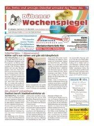 Dübener Wochenspiegel - Ausgabe 06 - 27-03_2013