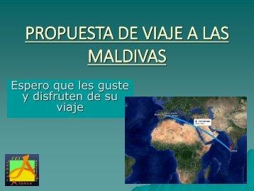 PROPUESTA DE VIAJE A LAS MALDIVAS