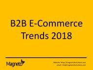 B2B eCommerce Trends 2018
