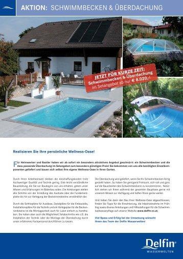 Flugblatt Aktion Schwimmbecken + Überdachung