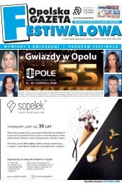 Gazeta Festiwalowa 2018