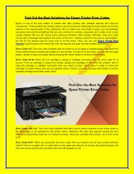 Find Out the Best Solutions for Epson Printer Error Codes