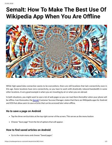 Semalt: How To Make The Best Use Of Wikipedia App When You Are O