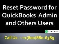 How to reset the QuickBooks Administrator password