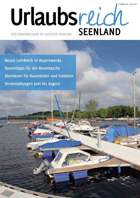 Ferienmagazin Urlaubsreich Seenland, Ausgabe Juni bis August 2018