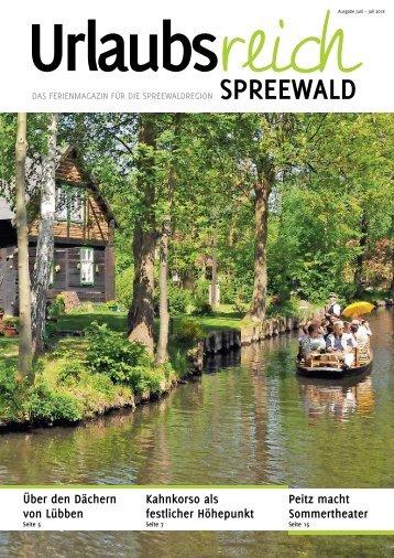 Ferienmagazin Urlaubsreich Spreewald, Ausgabe Juni bis Juli 2018