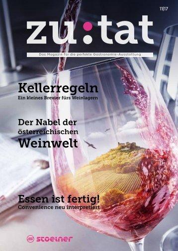 zutat 11/2017 Das Magazin für perfekte Gastronomie-Ausstattung