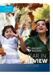 Project Rozana Year in Review 2017 - 2018