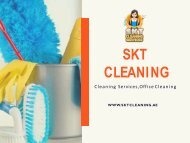 Eco Friendly Cleaning Services & Companies In Dubai | SKT Cleaning