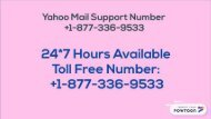 Yahoo Technical Support Number 1877-503-0107