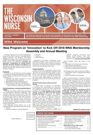 The Wisconsin Nurse - July 2018