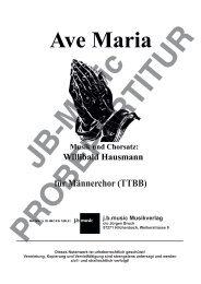 Ave Maria (für Männerchor TTBB)