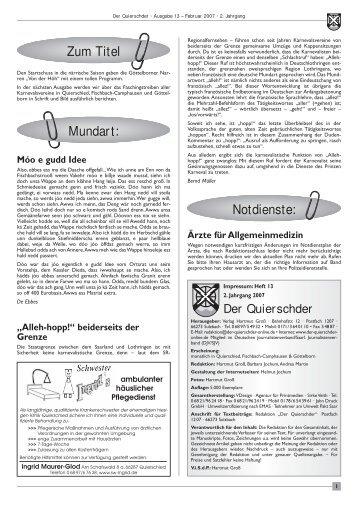 Saarwald-Verein eV - Der Quierschder