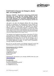 "PI-VR GmbH ist Sponsor der Kategorie ""Bestes ... - animago AWARD"