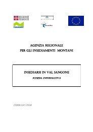 Scheda Val Sangone - Regione Piemonte