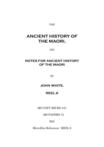 ancient history of the maori