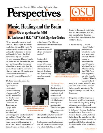Music, Healing and the Brain - Oklahoma State University Library