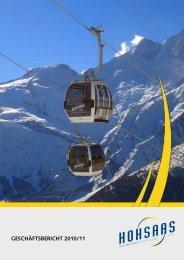 jahresbericht - Bergbahnen Hohsaas