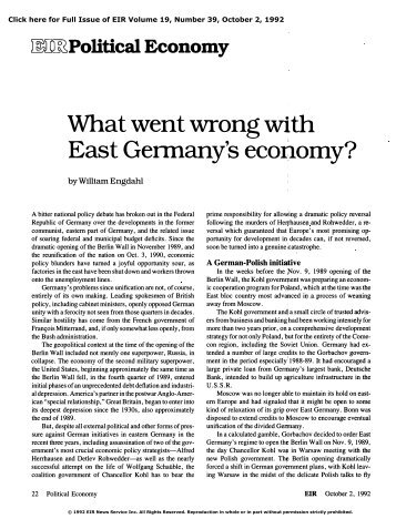 What Went Wrong with East Germany's Economy?