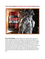 Pure Testo Xplode is Increase Your muscle performance