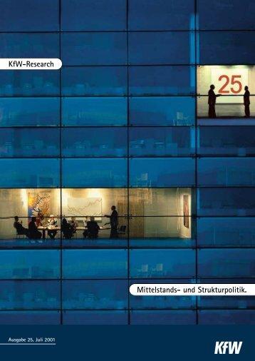 KfW-Research - KfW-Beiträge zur Mittelstands- und Strukturpolitik 25