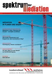 mediation in pLanen und bauen - Bundesverband Mediation eV