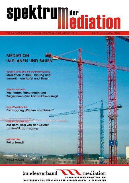 mediation in pLanen und bauen - Bundesverband Mediation eV