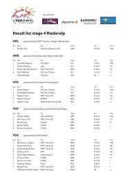 Result list stage 4 Riederalp HAL - 4th Tour O Swiss 2012