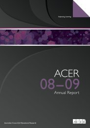 ACER Annual Report 2008-2009