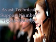 Avast Technical Support +1-844-393-0508