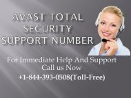 Avast Total Security +1-844-393-0508