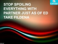 STOP SPOILING EVERYTHING WITH PARTNER JUST AS OF ED TAKE FILDENA