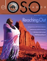Reaching Out - UNM Cancer Center